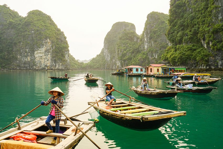 halong bay weather in march, halong bay vietnam, cat ba island vietnam, halong floating viallge
