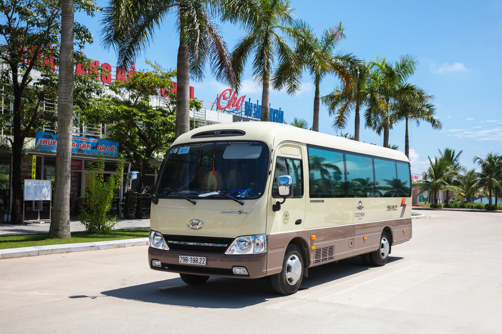 Cozy Bay Cruise private car to Halong Bay from hanoi