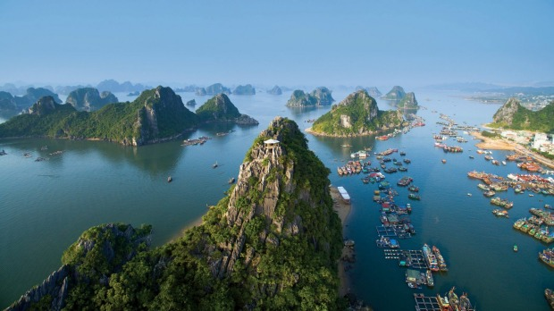 Halong bay weather in november, halong bay vietnam from flycam