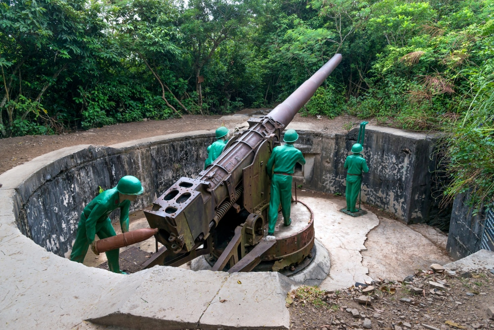 canon fort in Cat Ba Island