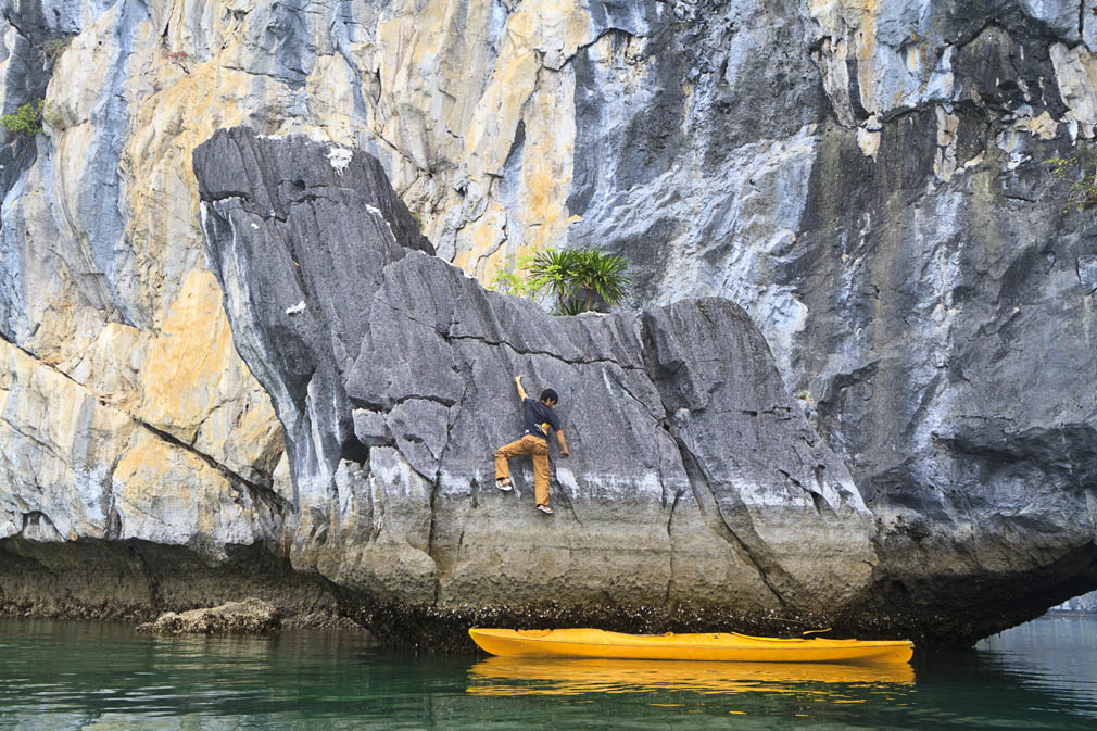Halong Bay rock climbing