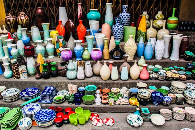 Bat trang ceramic product in hanoi, cozy vietnam travel