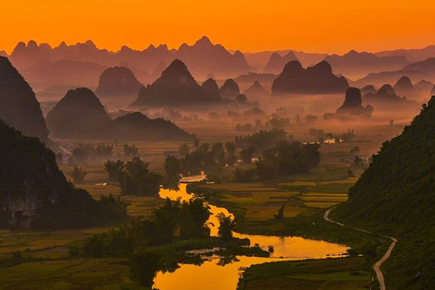 overview in cao bang province vietnam, vietnam travel, vietnam package tours