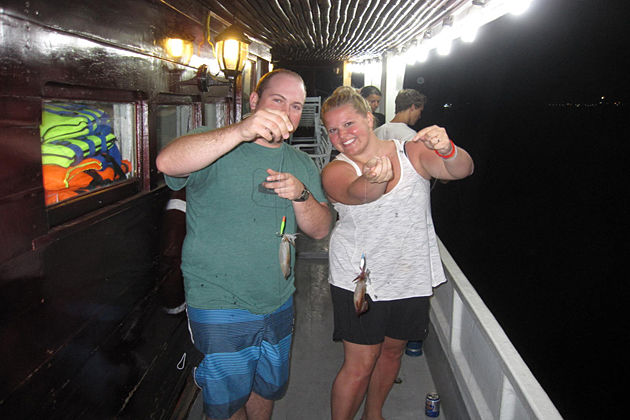 night squid fishing in co to island vietnam
