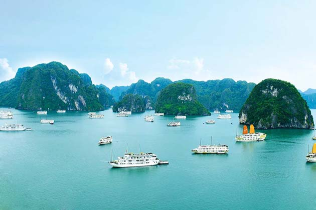 halong bay vietnam, hanoi overnight cruises, hanoi daily tours