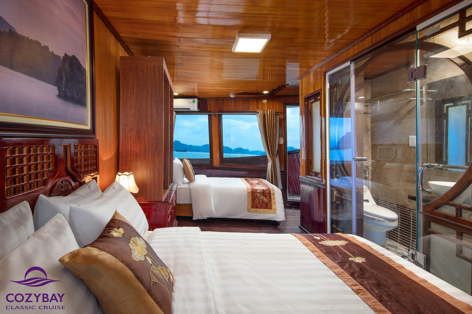 cozy bay classic cruise, deluxe triple cabin