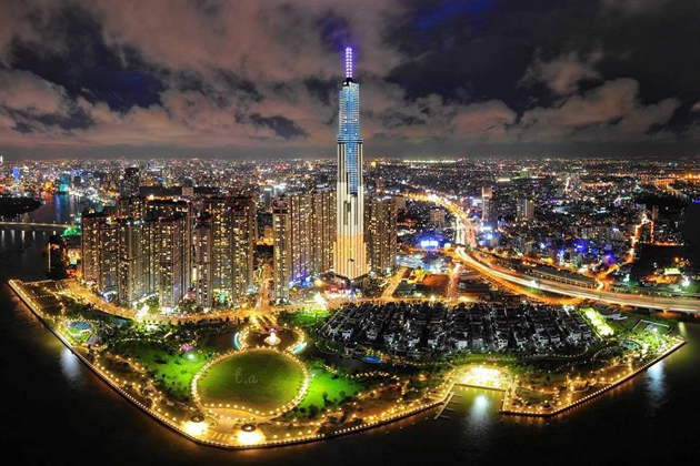 landmark-81-at-night-in-viet-nam