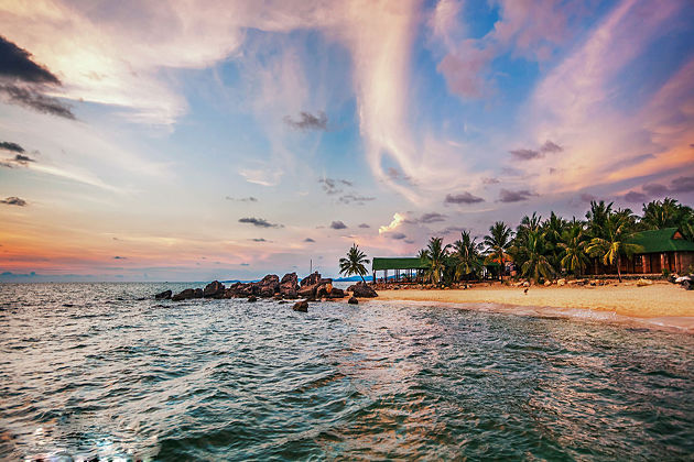 beautiful beach phu quoc island vietnam