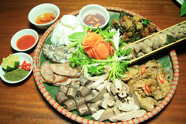 pork meat in tam dao, cozy vietnam travel