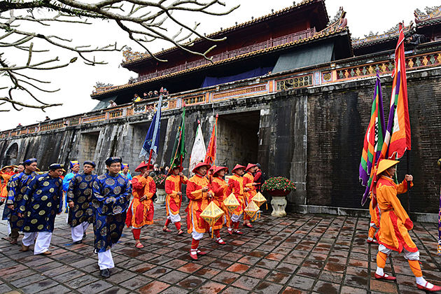 Tet holiday in hue citadel vietnam, cozy vietnam travel