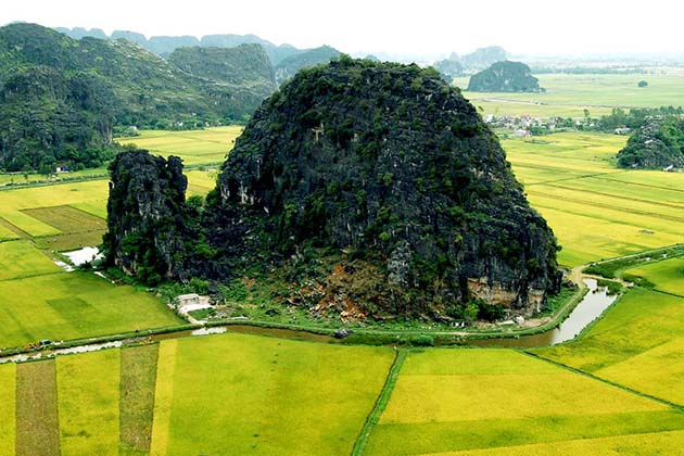 Natural Karst Tower in Trang An