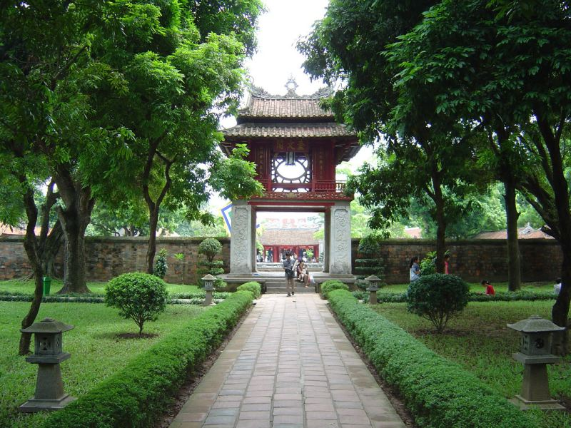 Temple of Literature in Hanoi Capital