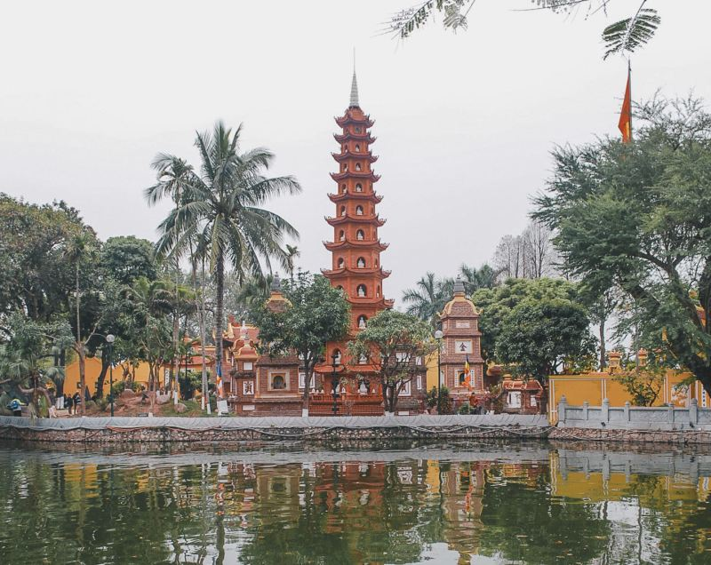Tran Quoc Pagoda in West Lake Hanoi