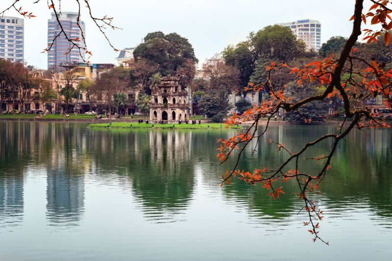 Hoan Kiem Lake in Hanoi Center